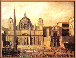 St. Peter's Basilica, painting by Viviana Codazzi, 1630