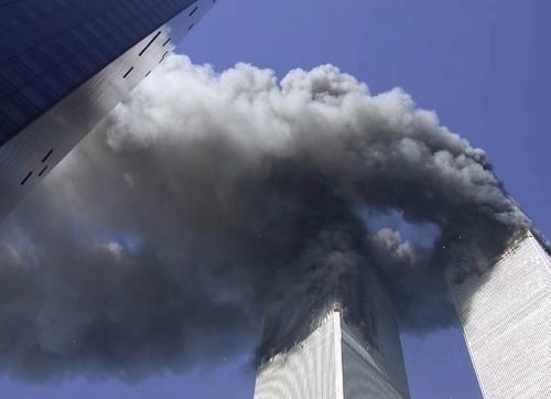 Twin Towers afire 4