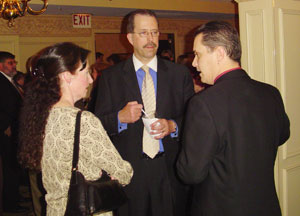 On the right is Joe Dunn, during the reception