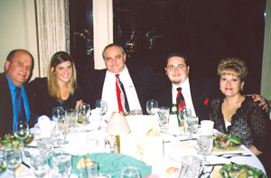 Judge Tom Panichi, Megan, and Judge Luciano Panici, with his son, Luciano, Jr., and his wife, Mary