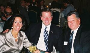 Nancy & Bill Brady, with Mauro Glorioso