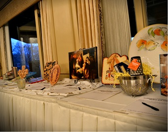 Silent Auction table, 2012 benefit