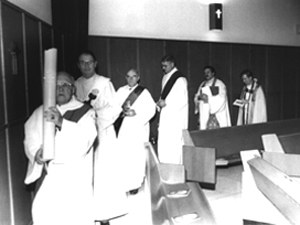 Procession out of the chapel