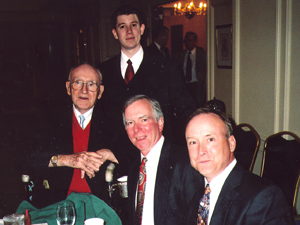 Jack Mahoney, with sons Terry and Chris, with John Ligda