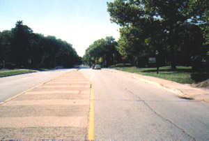 Westbound on Flossmoor Road, approaching Western