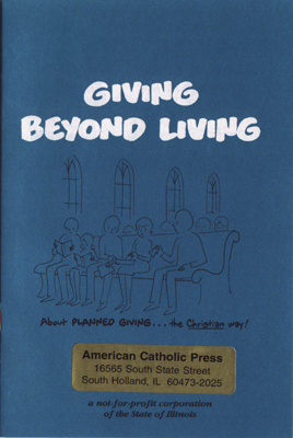 Giving beyond Living booklet