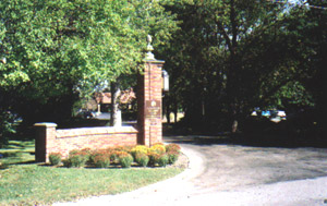 Entrance on Western Avenue, to the Flossmoor Country Club