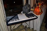 A portable piano, at the Silent Auction