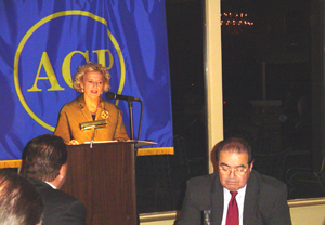 Justice Anne Burke, introducing Justice Scalia