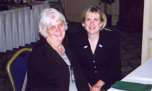 Joan Braden and Pat Gnaster