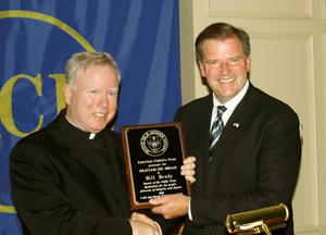 Senator Bill Brady, receiving the ACP Gratiam Dei Award for 2010