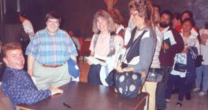 Dan Schutte, signing autographs