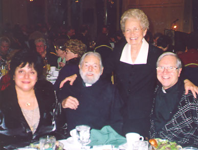 Mary Kay Pignotti, Father Peter Rookey, Bobbie Noonan, and Father Jim Holup