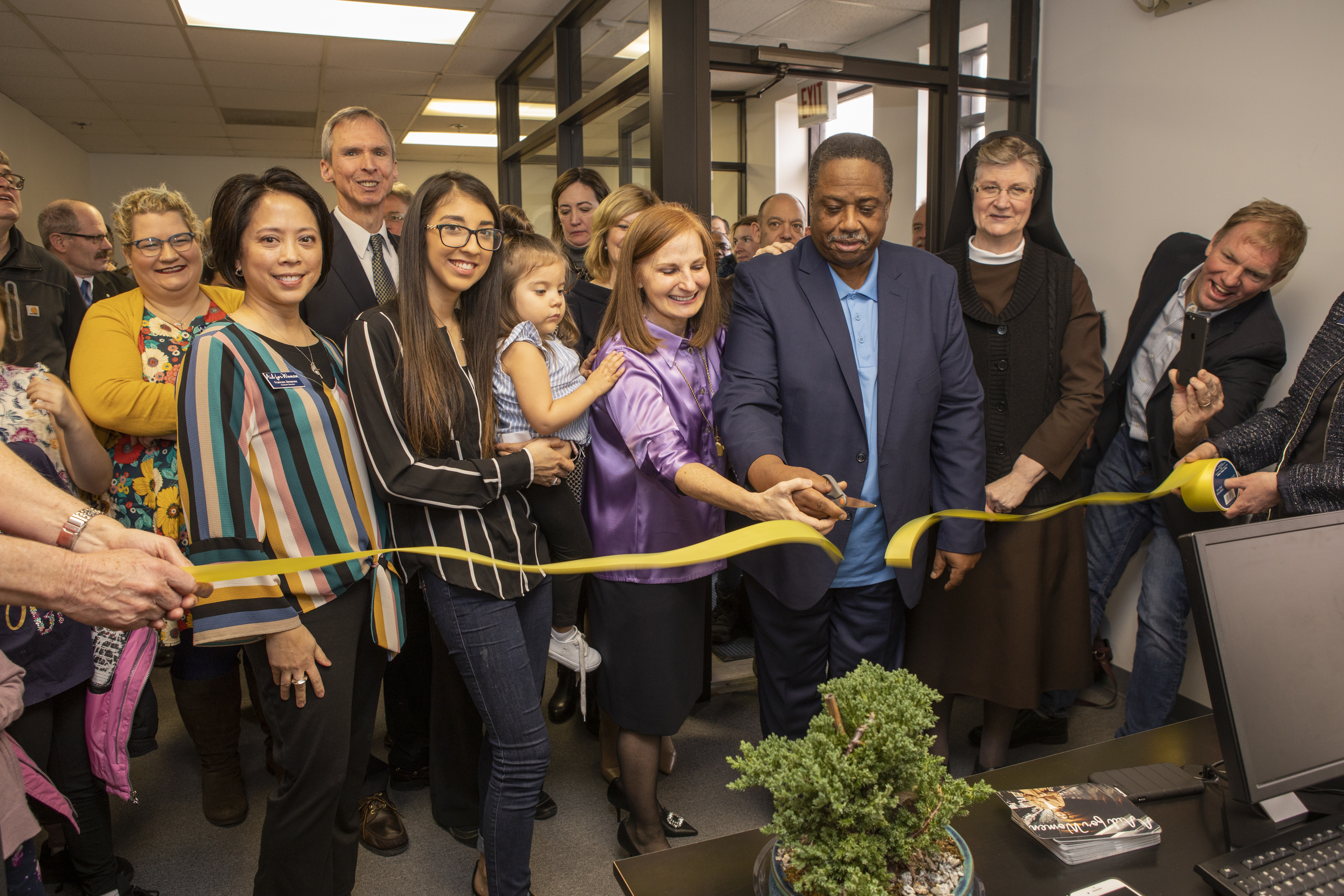 Oct. 25, we honor the new Aid for Women Center in Flossmoor.  Here is an image of the center opening, February, 2019.