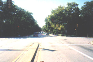 Arrival at intersection of Flossmoor Road and Western