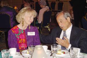 Susan Vorwerk and Mayor Angelo Ciambrone