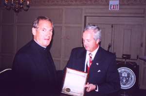 Msgr. Ken Velo with Mayor Dwight Welch