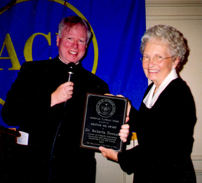Father Gilligan, the Gratiam Dei Award, and Dr. Noonan