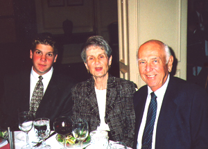 Noreetn and Brandt Oosterbaan, with their grandson, Chris