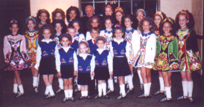 Father Greeley with World Academy of Irish Dancing